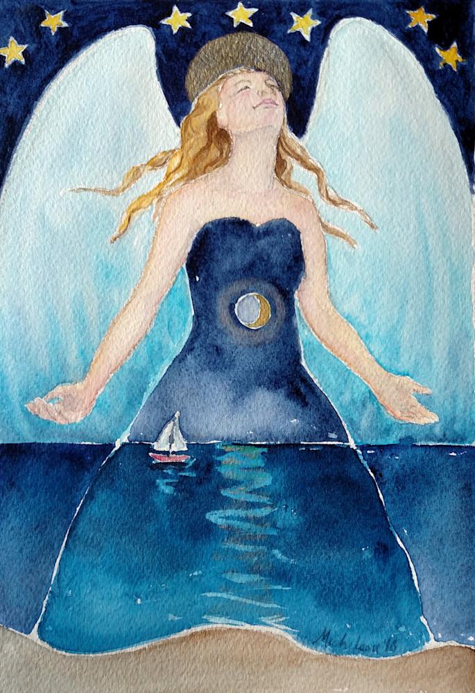 Angel Of Transcendence   Watercolor Angel Print  Art | Bright Spirit Studio