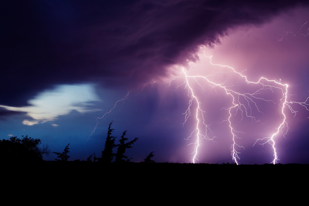 Thunderstorm Lightning Strike - Photography Print