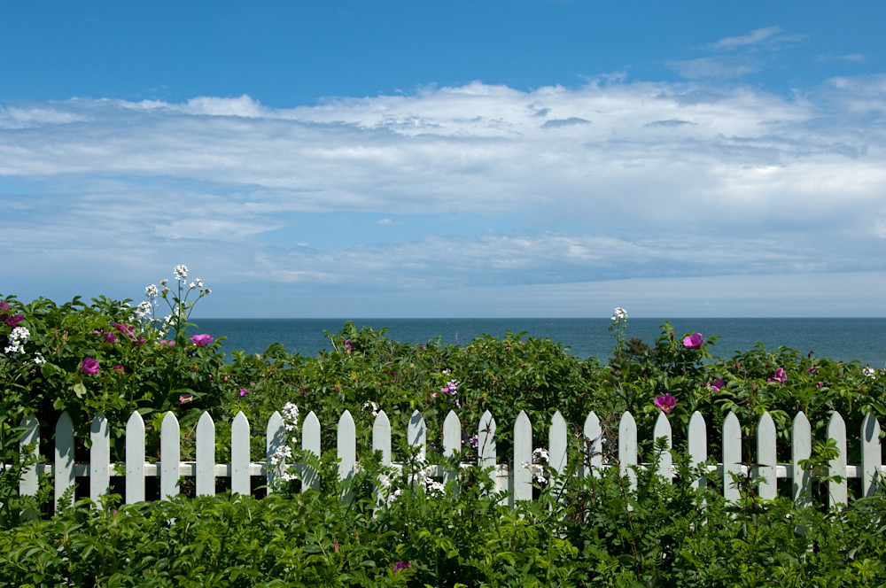 Sconset Fence Kn   Photography Art | Kit Noble Photography