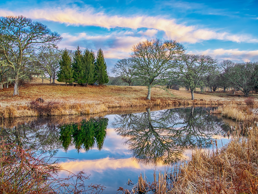 Turtle Brook Farm Winter Reflections Art | Michael Blanchard Inspirational Photography - Crossroads Gallery