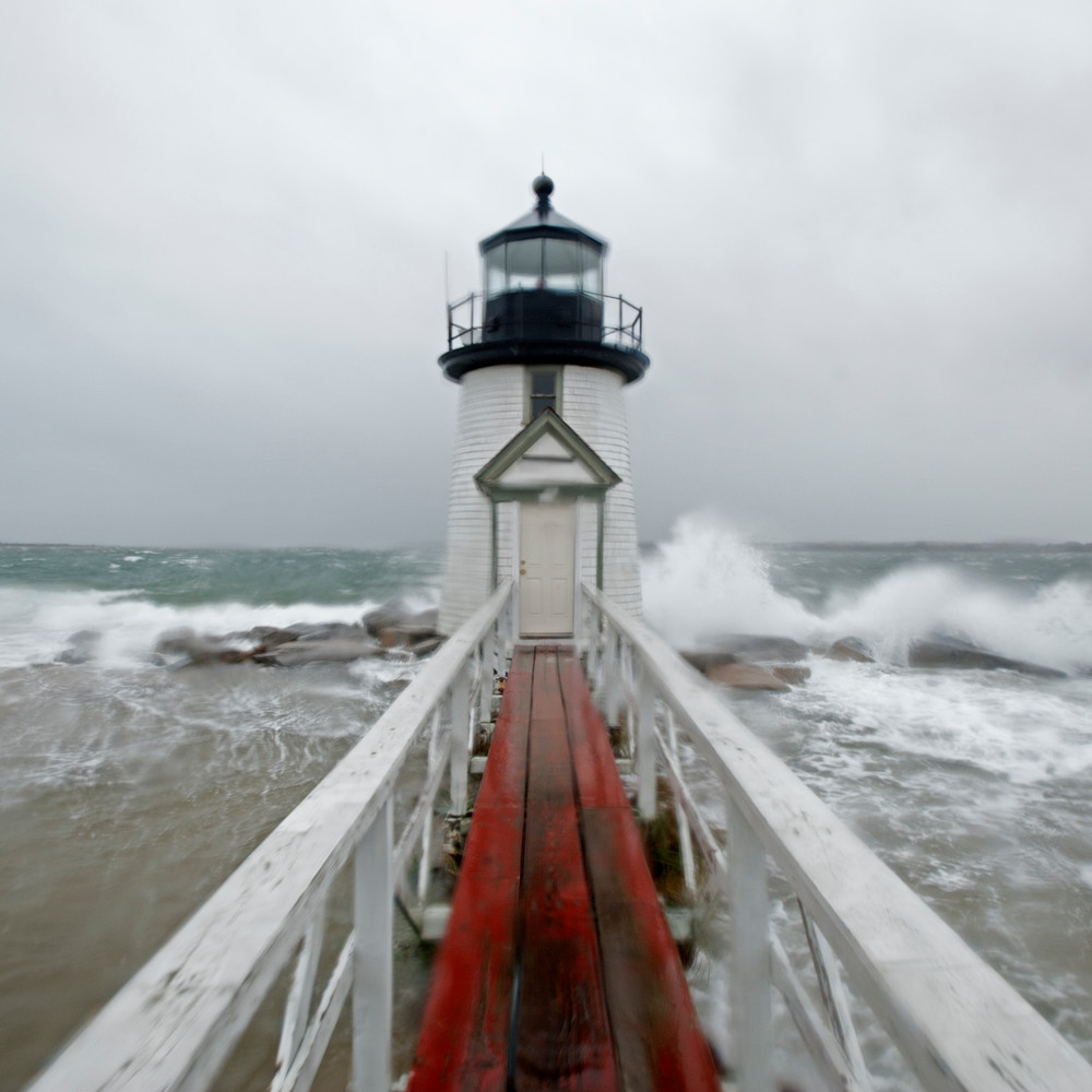 Brant Point Storm Surge (Square) Photography Art | Kit Noble Photography