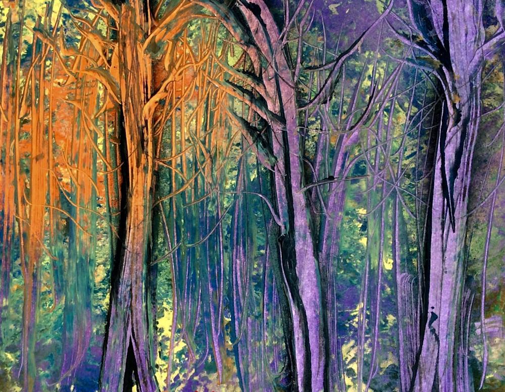 Rainbow Ghost Trees Art | House of Fey Art