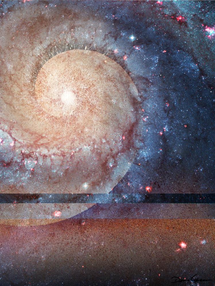 Fibonacci's Eye - Original Digital Print by visionary artist David Copson