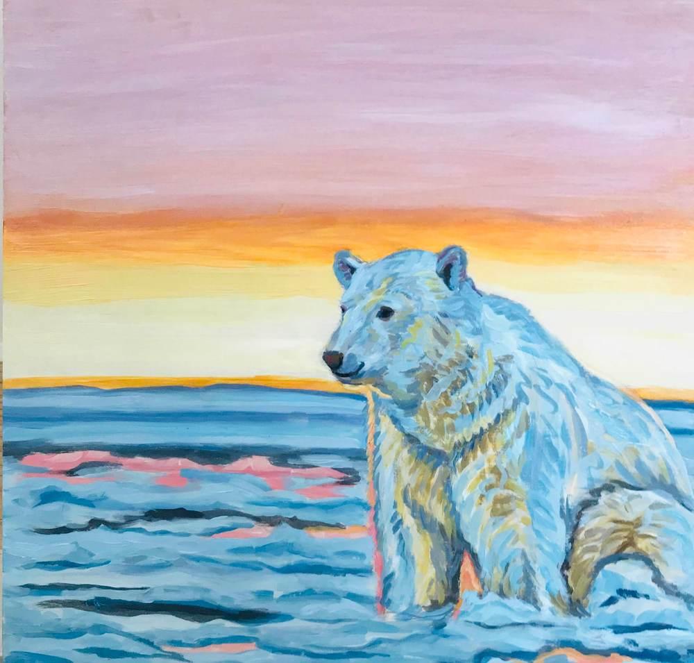 Alaska Polar Bear Art Print