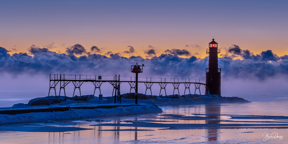 Pre Dawn, Algoma Pierhead Lighthouse Photography Art   brucedanz