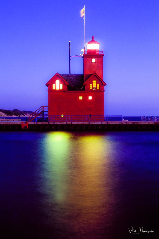 Big Red Lighthouse, Holland Mi Photography Art | vitopalmisano