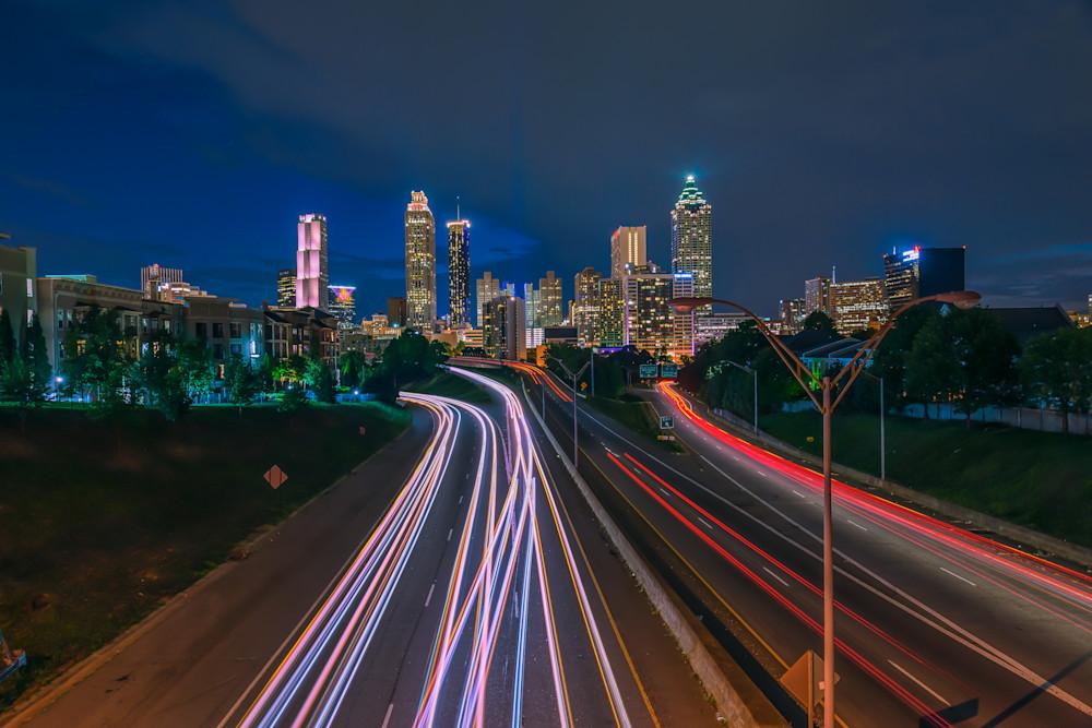 Jackson Street Bridge at Golden Hour | Susan J Photography