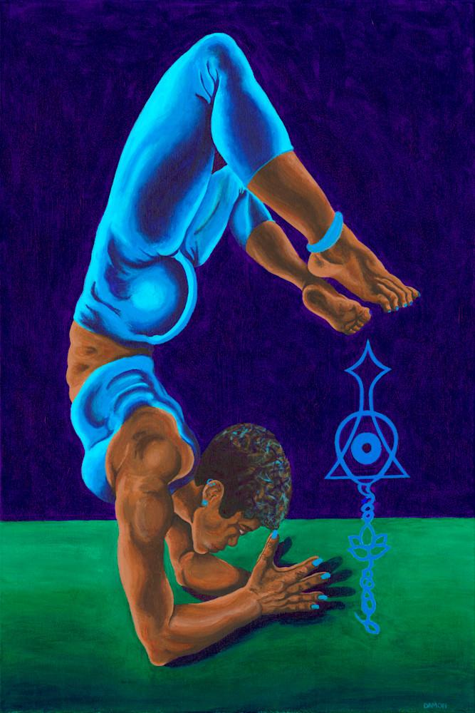 Forearm Stand Pose Art | Damon Powell - Artist & Theologian