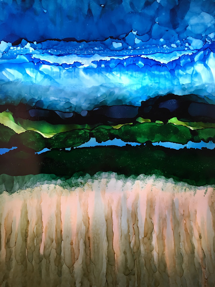 Land With Layers 4 Art | Sandy Smith Gerding Artwork