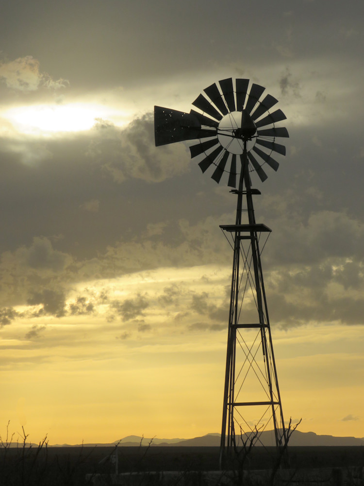 Gold Sky Windmill Photography Art | Galeria Mañana
