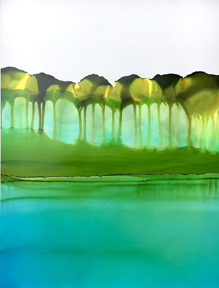 Tree Line By Shallows Art | Sandy Smith Gerding Artwork