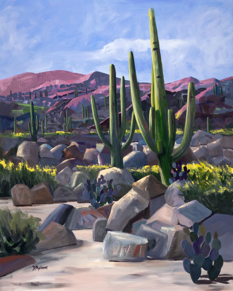 Party Cactus Painting by Diana Madaras