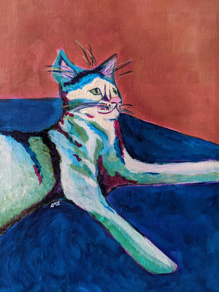 Stylized Cat Painting | LML Studio Art