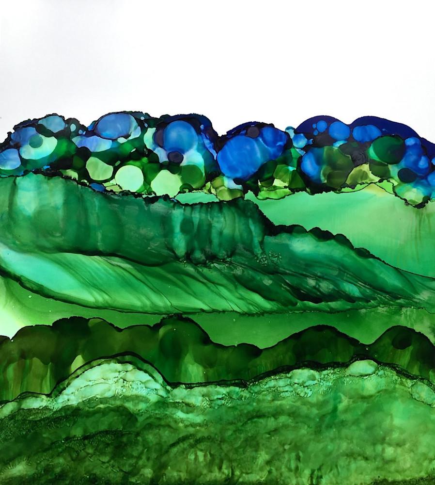 Hills With Cobalt Art | Sandy Smith Gerding Artwork