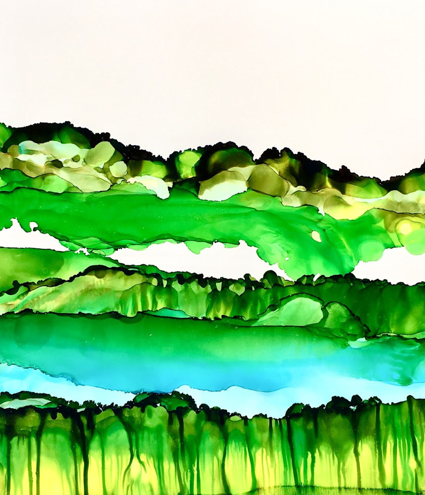 Landscape Layers 2 Art   Sandy Smith Gerding Artwork