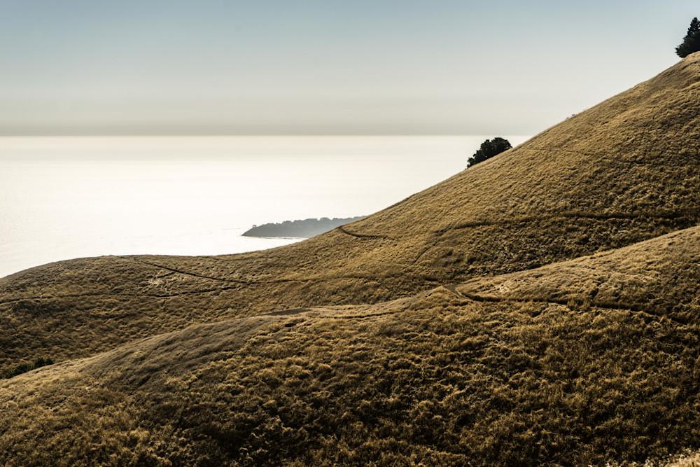 Late Afternoon on Mt. Tam - California coast ocean view Mt. Tamalpais photograph print