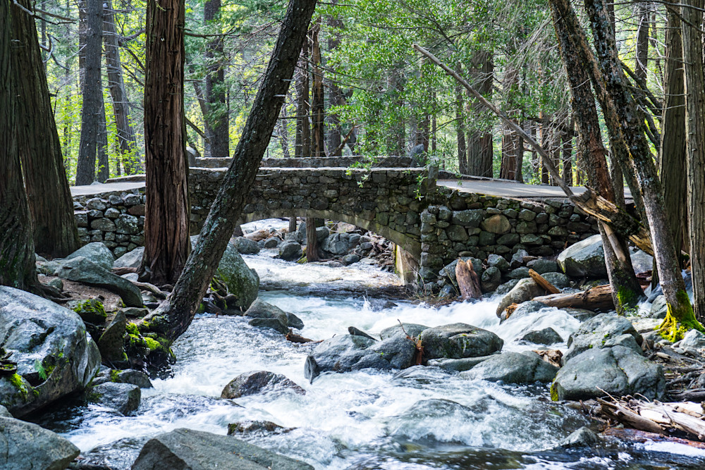 Stone Footbridge - Yosemite National Park landscape photograph print