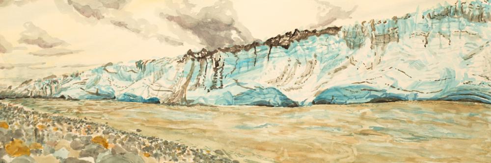 Alaskan Childs Glacier Art for sale.
