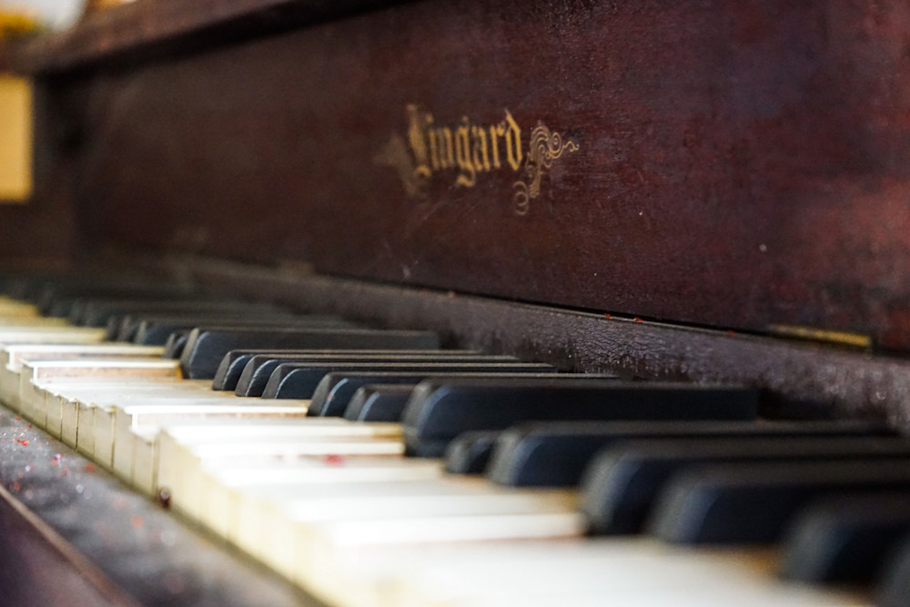 Antique Piano - Vintage western movie set photograph print