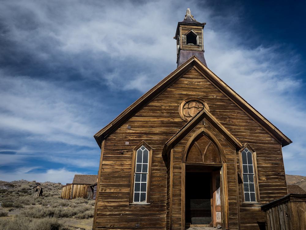 Church No More - Bodie Ghost town California landscape architecture photograph print