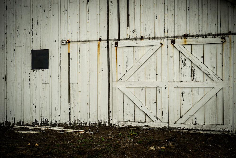 Barn Doors - California old barn architecture photograph print