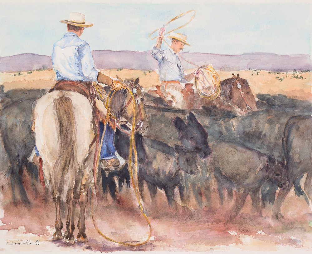Ropin The Rodear  Art | Debra Bruner Studio