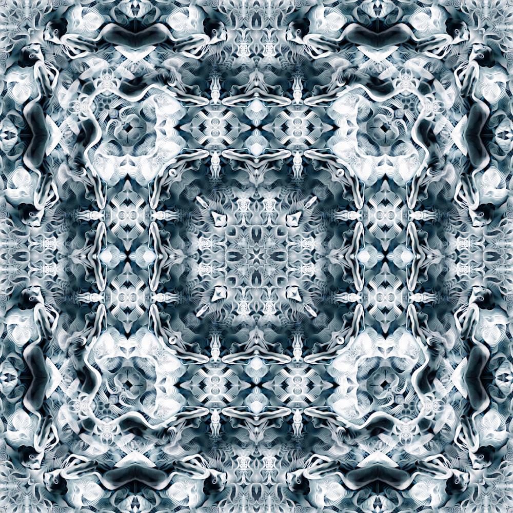 Milk Glass Rapture in Blue 2