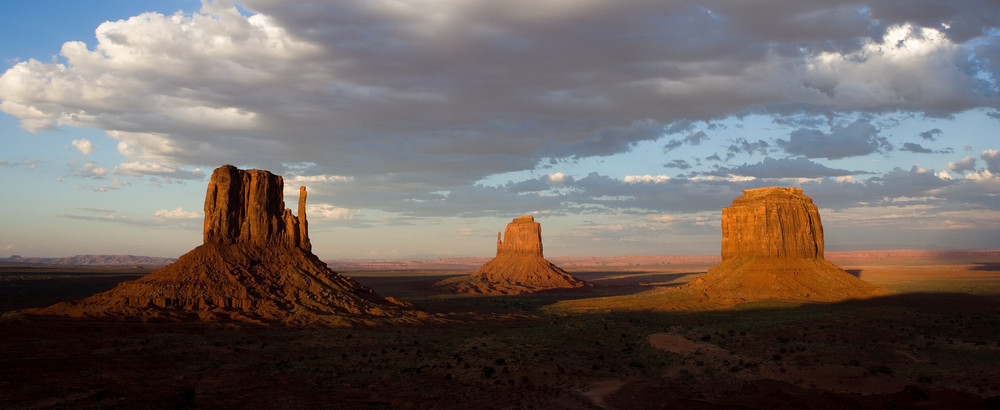 Sunset Over Monument Valley by JKP