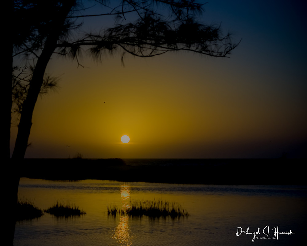 """Sunset at Fort DeSoto"", sunset, PhotoDiscoveries"