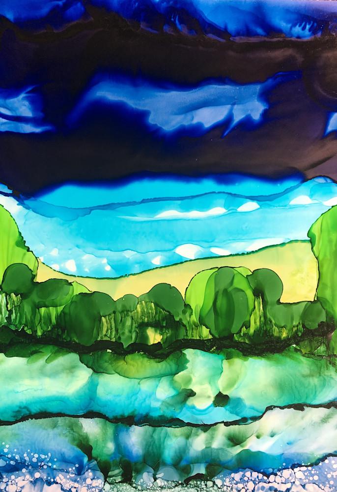 Landscape Layers 6 Art | Sandy Smith Gerding Artwork