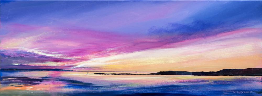 welsh coastal sunset art print