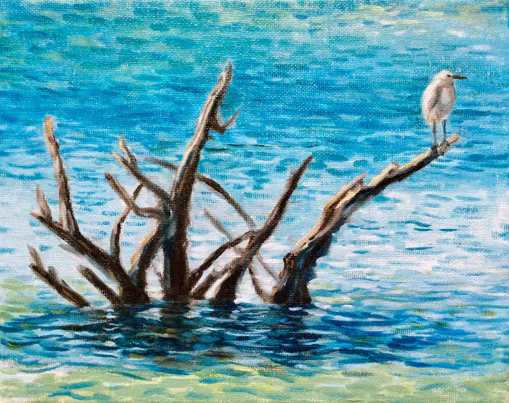 The Sea Bird and Branches Fine Art by Hilary J England