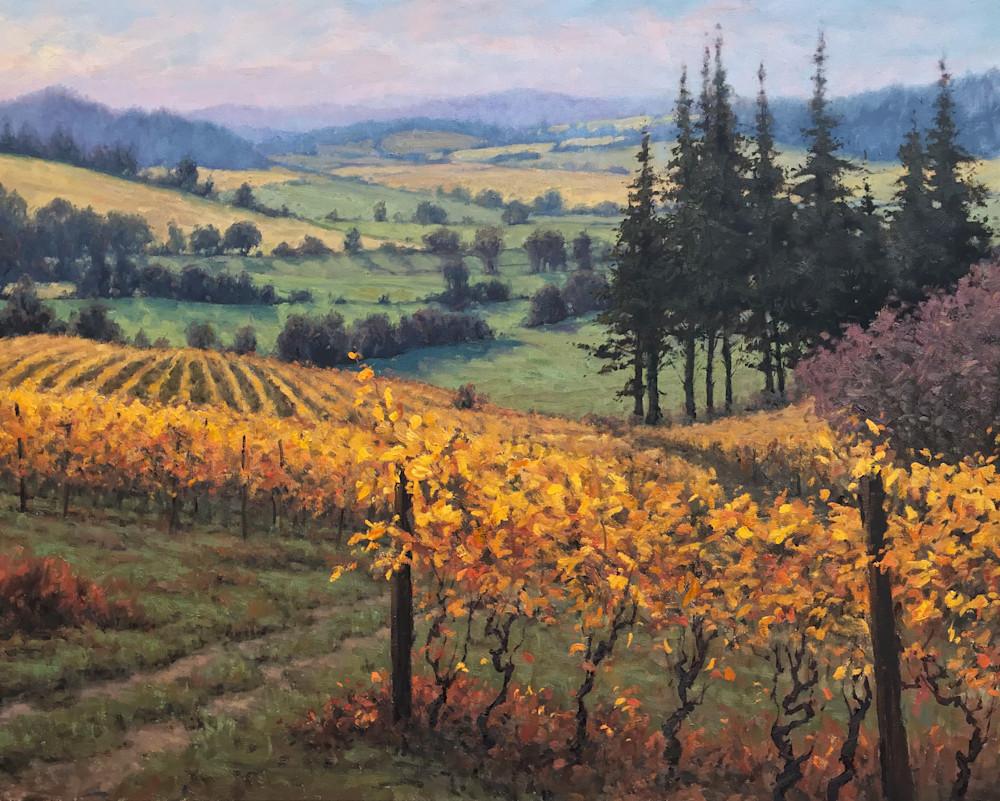Oregon Vineyard landscape painting art