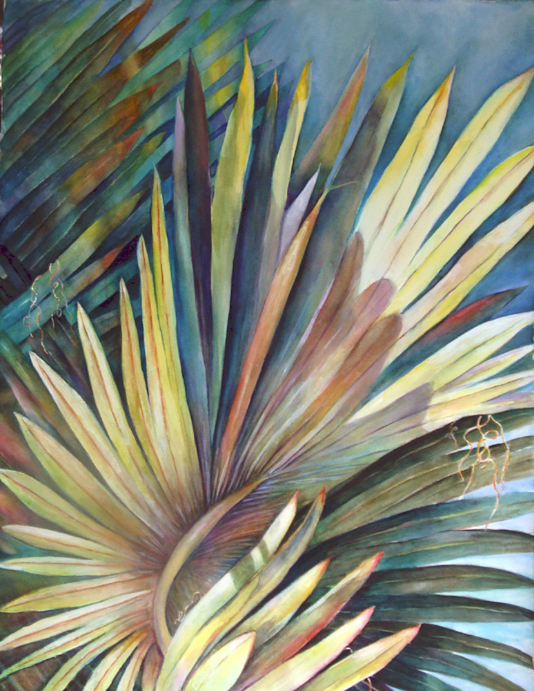 Palm Tree, From an Original Watercolor Painting