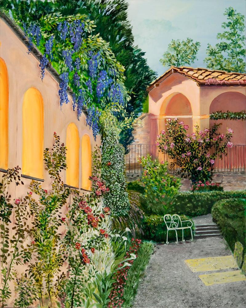 Agapa Garden, From an Original Oil Painting