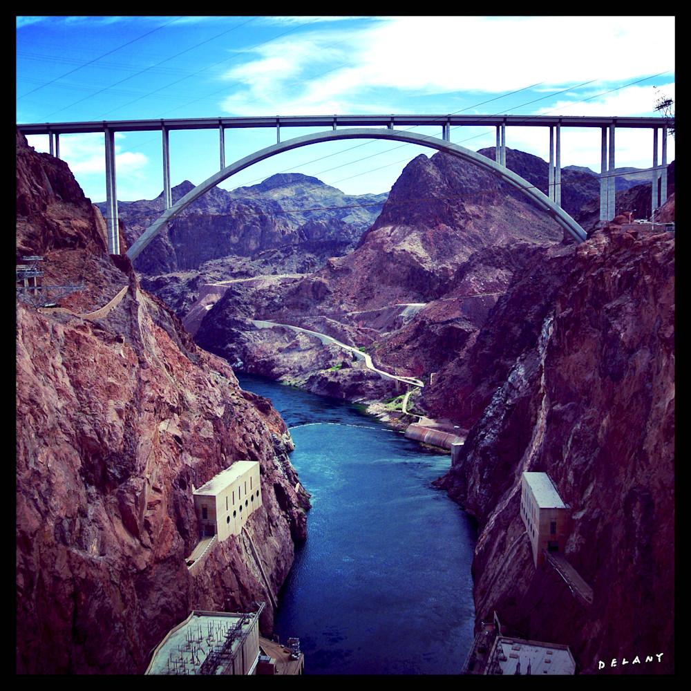 Hoover Dam Bridge Instagram Print by George Delany