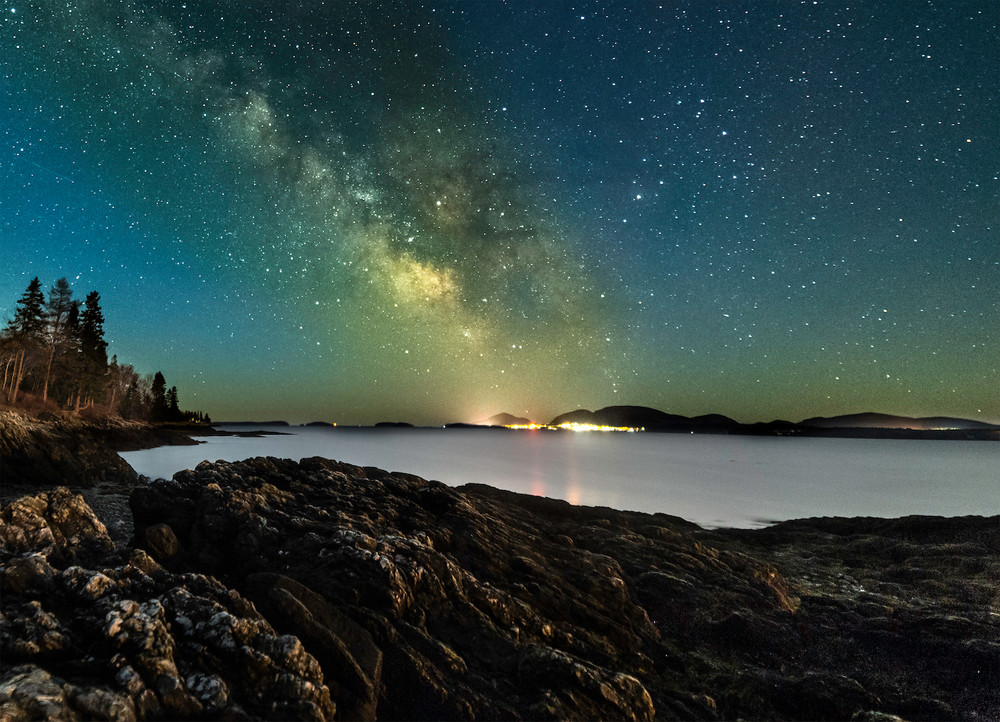Bar Harbor Milky Way Photography Art | Monteux Gallery