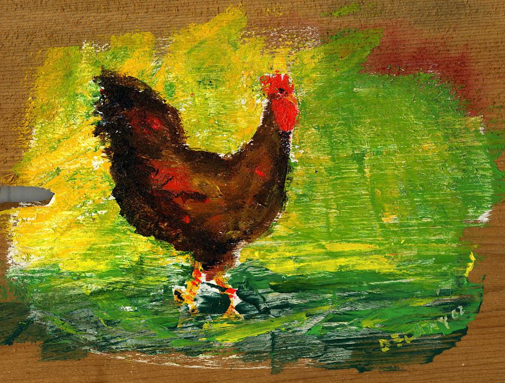 Young Cockerel 3 Art Print
