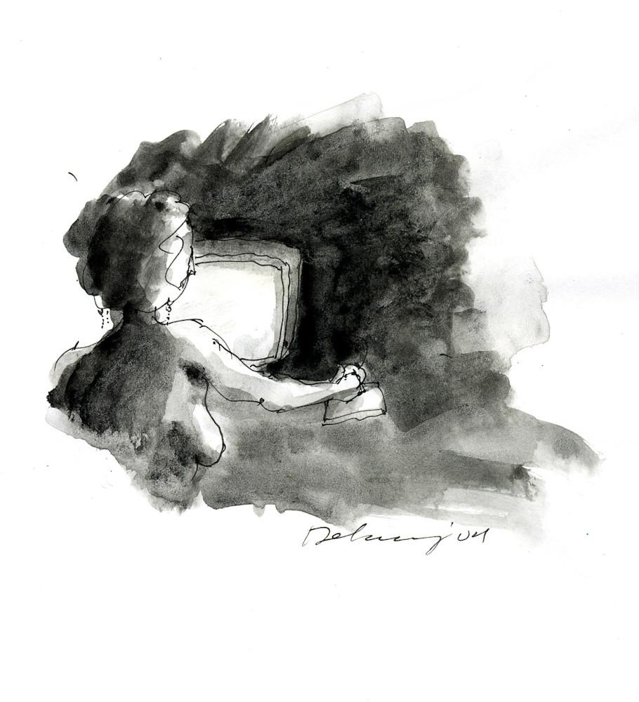 Computer Person #10 Print