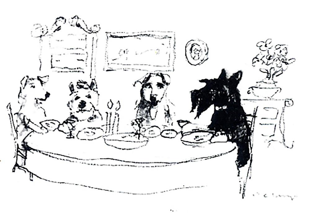 Scotty Dinner Gang Print