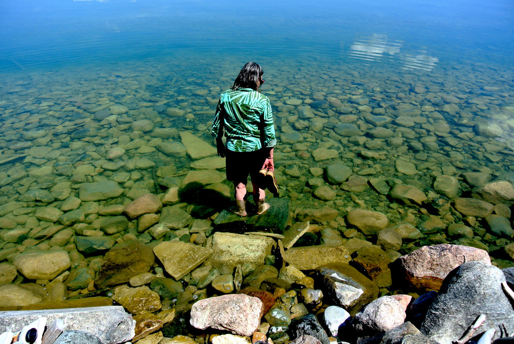 Summer Woman in Ontario Lake Print