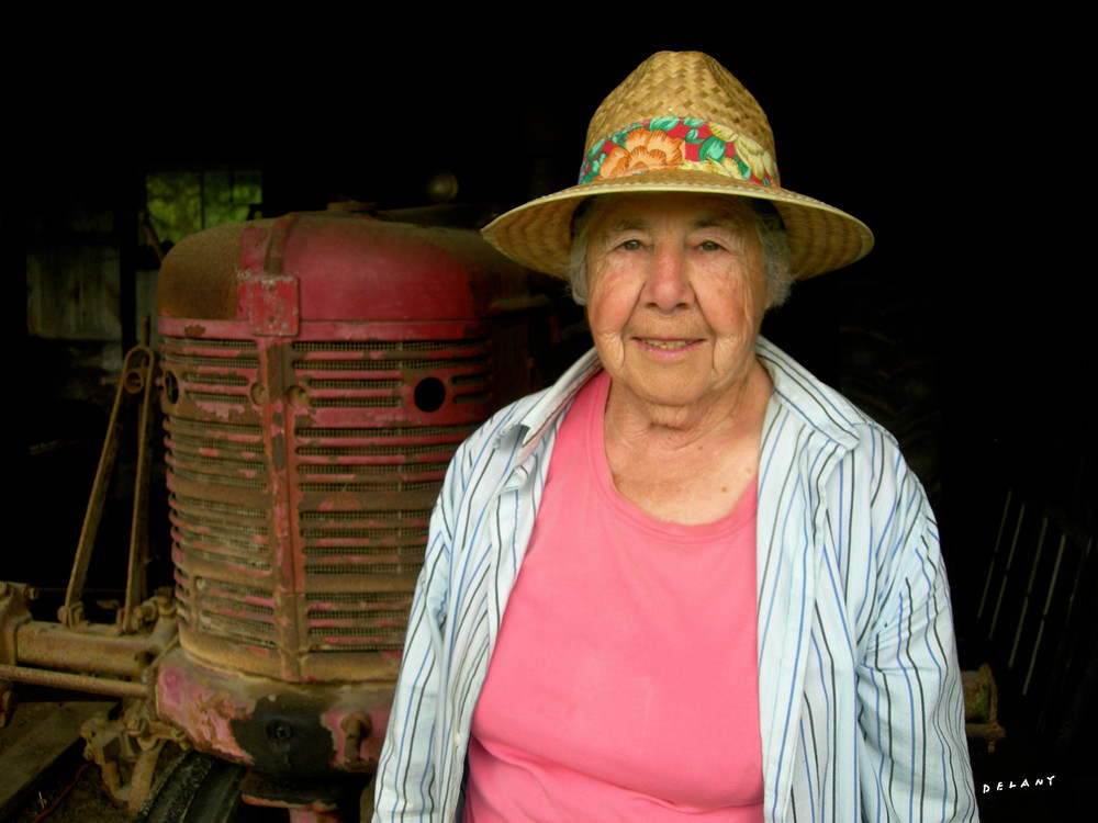 Frances & Tractor  Art | DBA George Delany Art