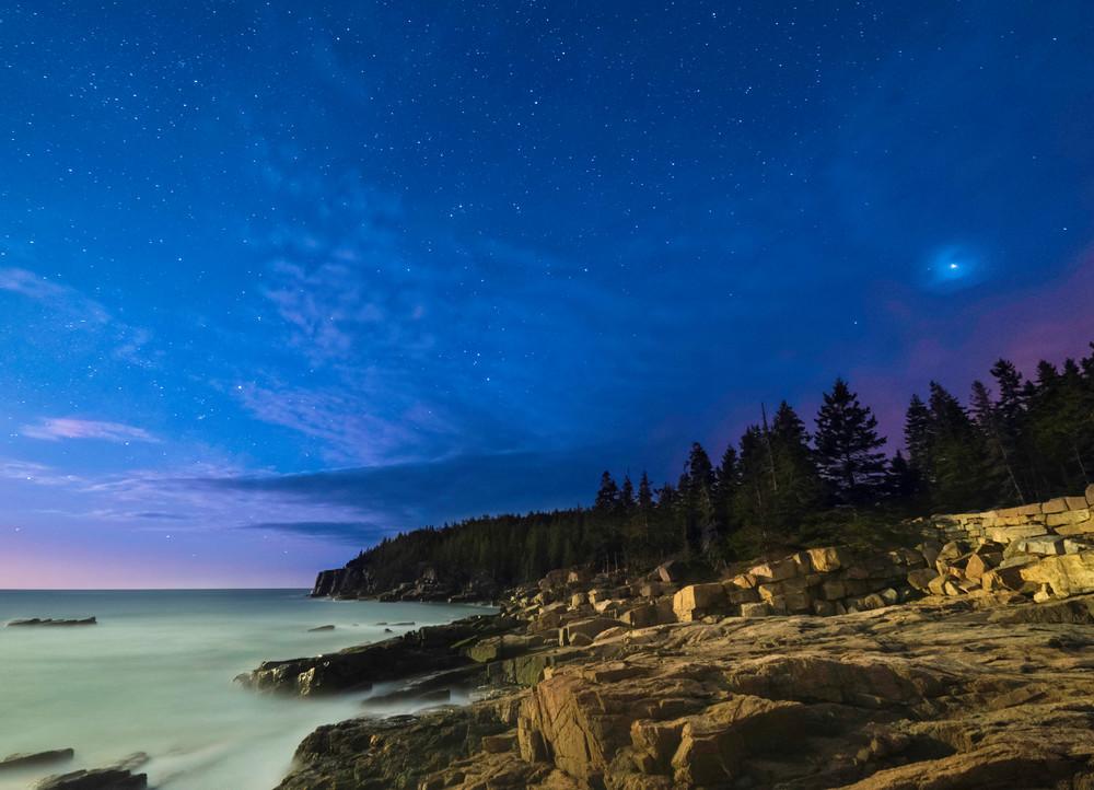 Otter Cliff Night Sky