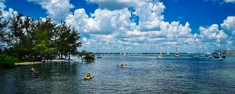 Kayaking On Sarasota Bay Photography Art | jimhooverphoto