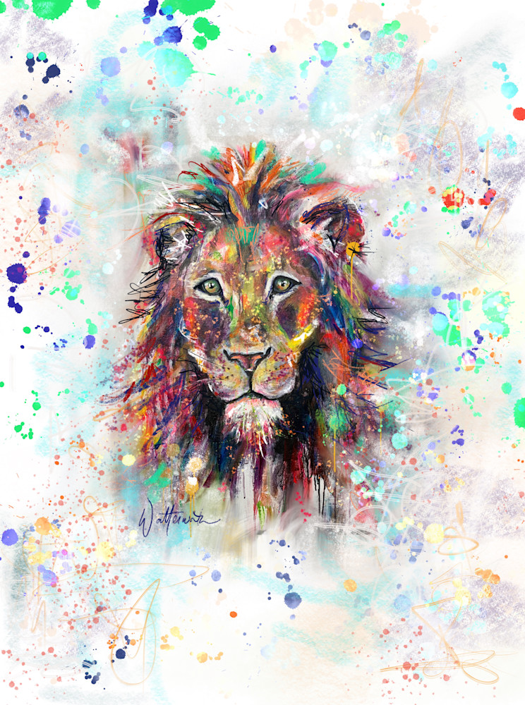 Lion Print Art | Kristyn Watterworth