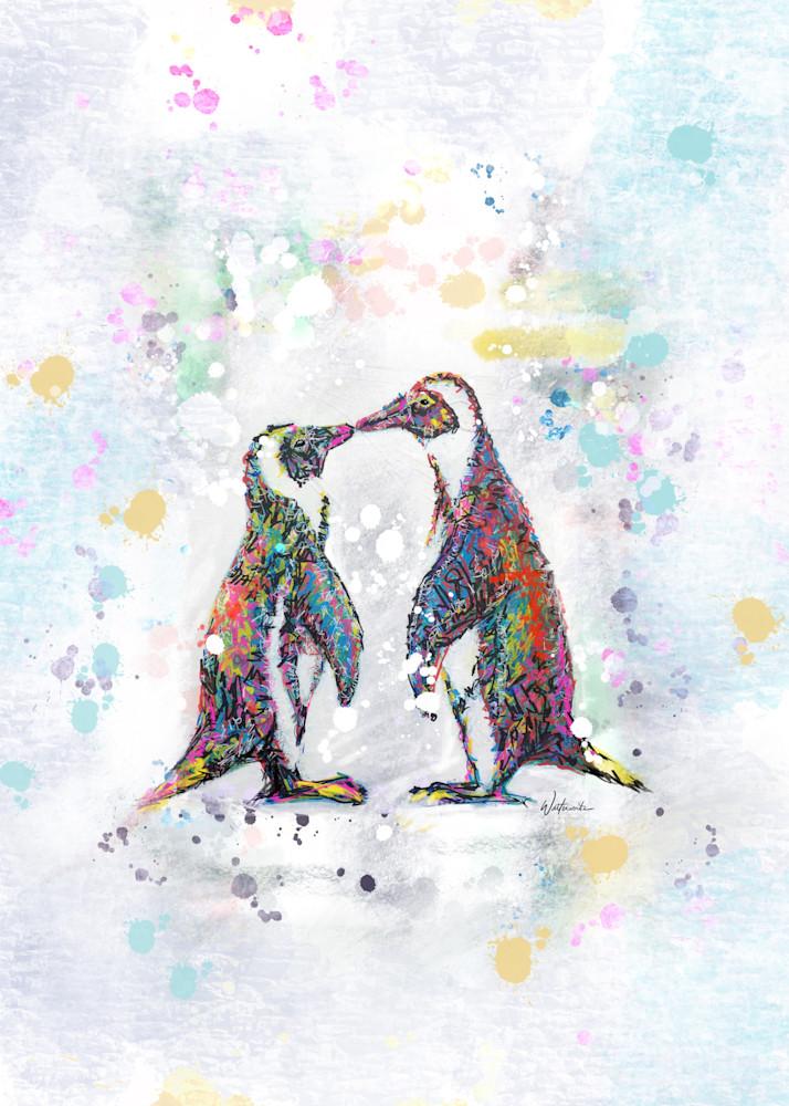 Penguin Love Art | Kristyn Watterworth