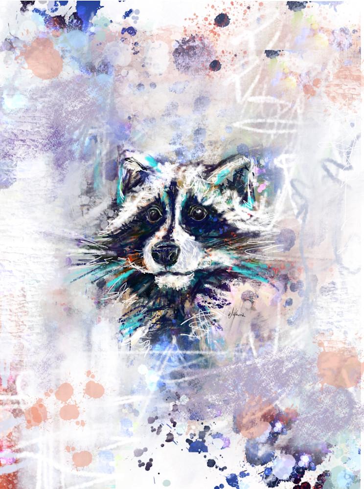 Raccoon Art | Kristyn Watterworth