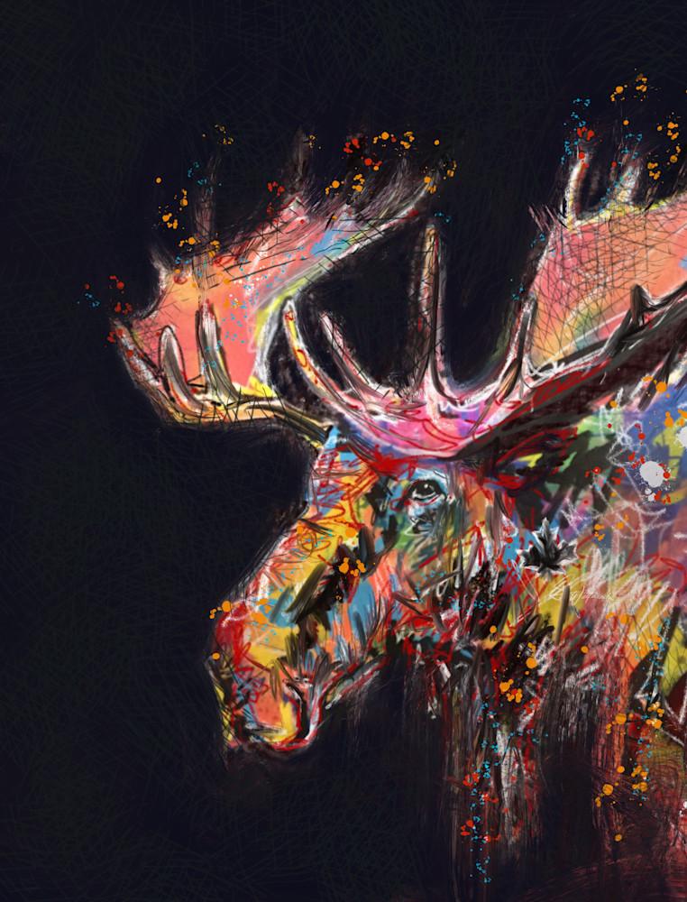 Moose Dark Art | Kristyn Watterworth
