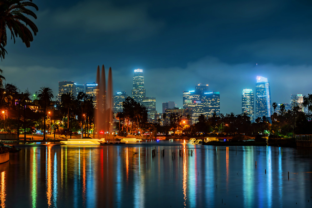 Echo Park Lake Reflections - Beautiful Pictures of Los Angeles