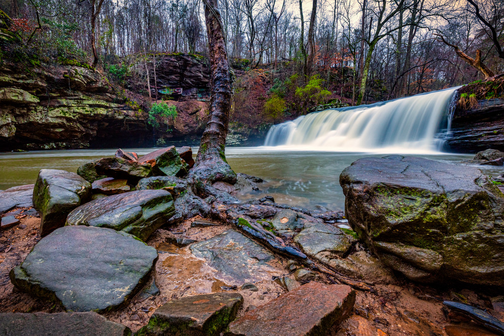 Rainy day at Mardis MIll Falls - Alabama waterfalls fine-art photography